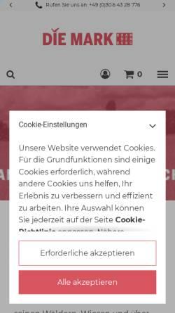 Vorschau der mobilen Webseite www.die-mark-brandenburg.de, Zeitschrift Die Mark Brandenburg - Verlag für Regional- und Zeitgeschichte Inh.: Marcel Piethe