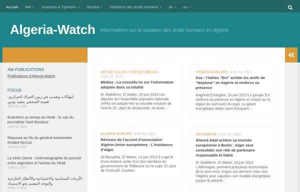 Vorschau von www.algeria-watch.de, Algeria-Watch