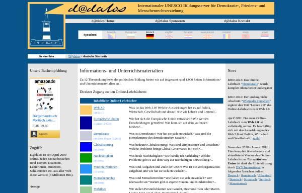 Vorschau von www.dadalos.org, Bildungsserver D@dalos: Themenkomplex Menschenrechte