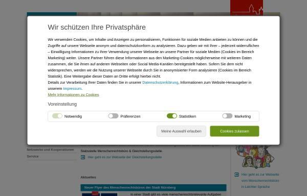 Vorschau von www.menschenrechte.nuernberg.de, Nürnberger Menschenrechtspreis