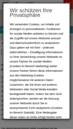 Vorschau der mobilen Webseite www.menschenrechte.nuernberg.de, Nürnberger Menschenrechtspreis