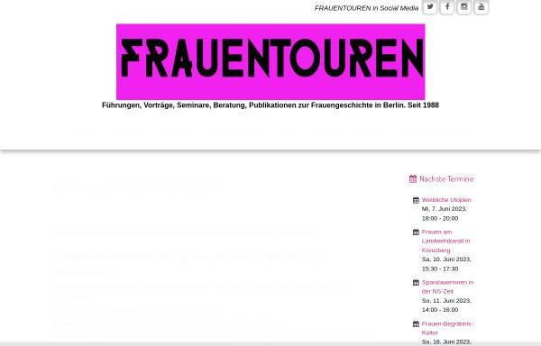 Vorschau von www.frauentouren.de, Frauentouren