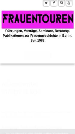 Vorschau der mobilen Webseite www.frauentouren.de, Frauentouren