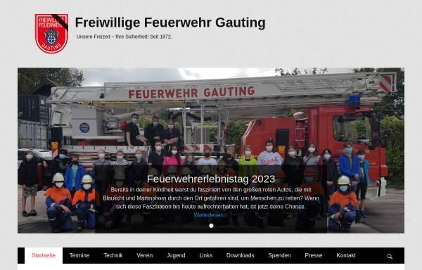 Vorschau von www.feuerwehr-gauting.de, Freiwillige Feuerwehr Gauting