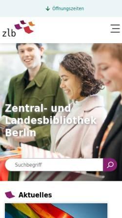 Vorschau der mobilen Webseite www.zlb.de, Hunderttausend Thaler - Öffentliche Vergnügungen in Berlin 1848