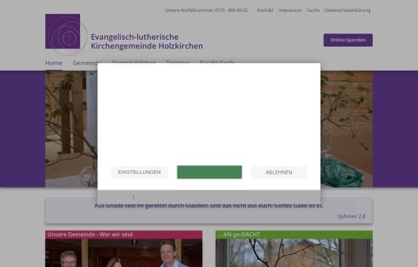 Vorschau von www.holzkirchen-evangelisch.de, Evangelisch-lutherische Kirchengemeinde Holzkirchen