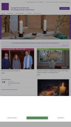 Vorschau der mobilen Webseite www.holzkirchen-evangelisch.de, Evangelisch-lutherische Kirchengemeinde Holzkirchen