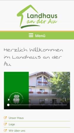 Vorschau der mobilen Webseite www.landhaus-an-der-au.de, Landhaus an der Au