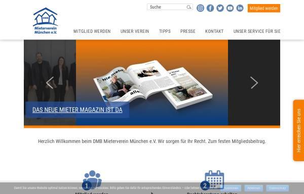 Vorschau von www.mieterverein-muenchen.de, Mieterverein München e. V.