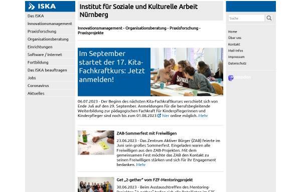 Vorschau von www.iska-nuernberg.de, Institut für Soziale und Kulturelle Arbeit Nürnberg, ISKA