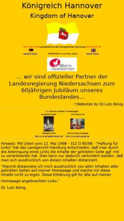 Vorschau der mobilen Webseite www.koenigreich-hannover.de, Königreich Hannover by Dr. Lutz König