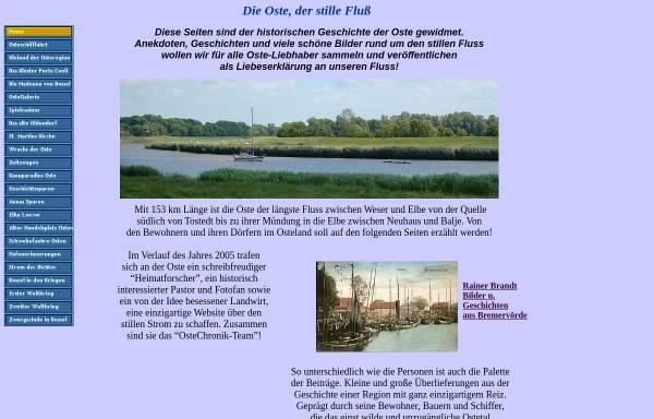 Vorschau von www.ostechronik.de, Die Oste, der stille Fluss