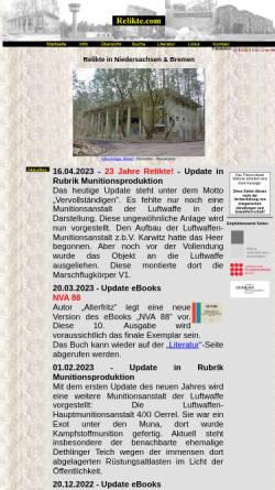 Vorschau der mobilen Webseite www.relikte.com, Relikte in Niedersachsen und Bremen
