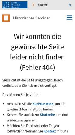 Vorschau der mobilen Webseite www.hist.uni-hannover.de, Zwei Länder - Eine Herkunft