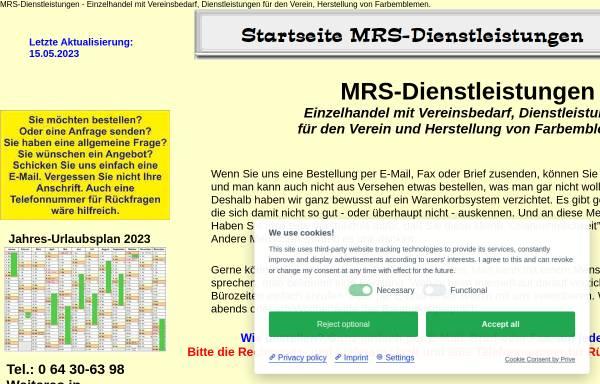 Vorschau von www.mrs-dlz.de, MRS Dienstleistungen, Wolfgang K. Hildebrand