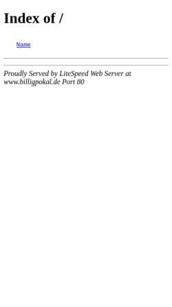 Vorschau der mobilen Webseite www.billigpokal.de, Pokale Mikulla, Andreas Mikulla