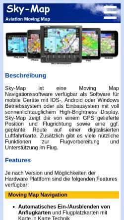 Vorschau der mobilen Webseite www.sky-map.de, RS-Datentechnik - Sky-Map