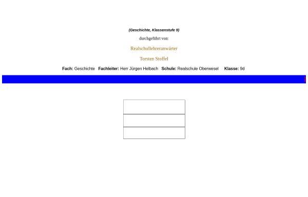 Vorschau von www.t-stoffel.de, Hunsrücker in Brasilien - Ein Projekt der Klasse 9d der Realschule Oberwesel zur Auswanderung 19. Jh