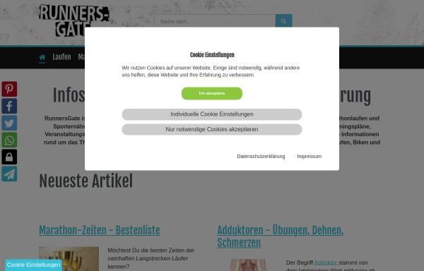 Vorschau von www.runnersgate.de, RunnersGate