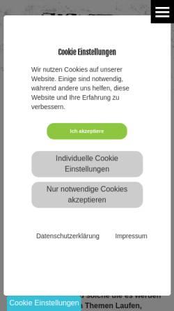 Vorschau der mobilen Webseite www.runnersgate.de, RunnersGate