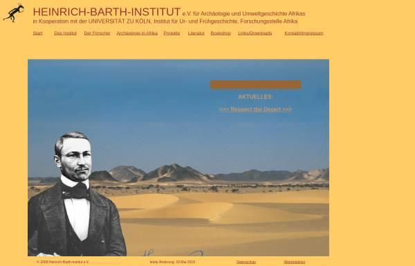Vorschau von www.uni-koeln.de, Heinrich Barth Institut für Archäologie und Geschichte Afrikas