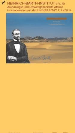 Vorschau der mobilen Webseite www.uni-koeln.de, Heinrich Barth Institut für Archäologie und Geschichte Afrikas