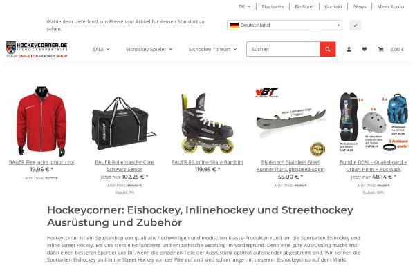 Vorschau von www.hockeycorner.de, Hockeycorner