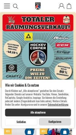 Vorschau der mobilen Webseite www.hockeycorner.de, Hockeycorner