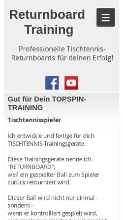 Vorschau der mobilen Webseite www.returnboard.de, TT-Online-Shop, Carmen Pollak