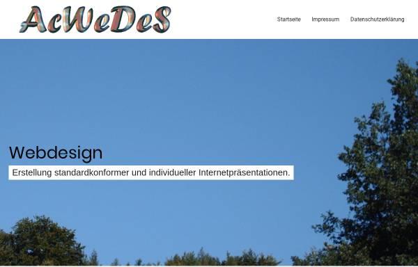 Vorschau von www.acwedes.de, AcWeDeS Webdesign