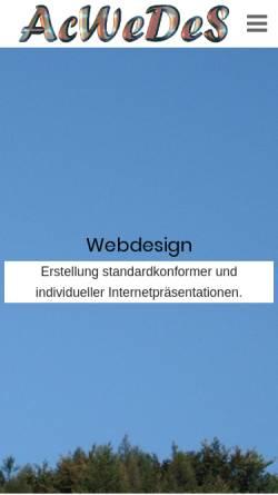 Vorschau der mobilen Webseite www.acwedes.de, AcWeDeS Webdesign