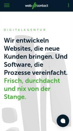 Vorschau der mobilen Webseite www.webcontact.de, Web://Contact