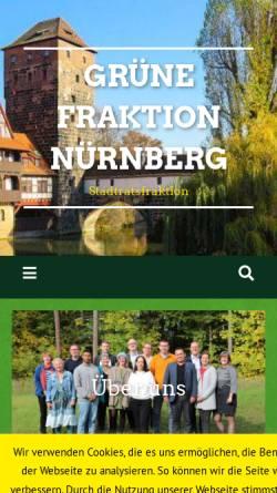 Vorschau der mobilen Webseite www.nuernberg.de, Bündnis 90/Die Grünen-Stadtratsfraktion Nürnberg