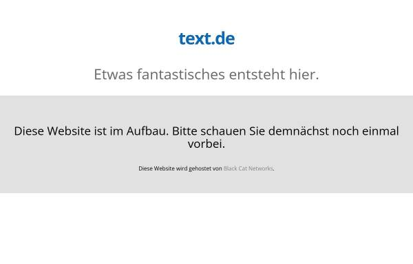 Vorschau von www.text.de, Gisela Gloger, Text & Konzeption