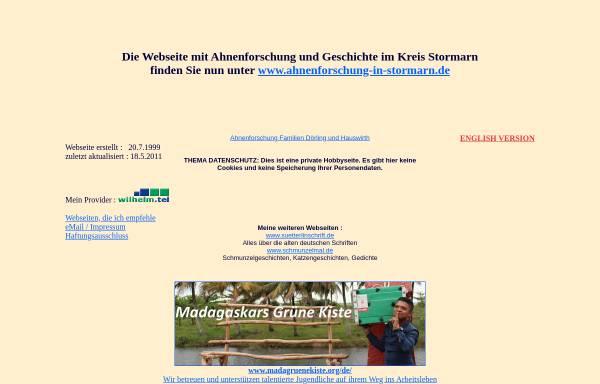 Vorschau von www.peter-doerling.de, Ahnenforschung und Geschichte im Kreis Stormarn