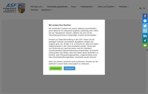 Vorschau von www.saar-genealogie.de, Arbeitsgemeinschaft für Saarländische Familienkunde e.V. (ASF)