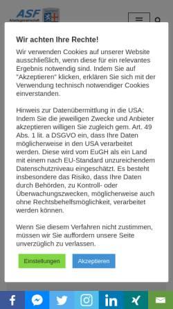 Vorschau der mobilen Webseite www.saar-genealogie.de, Arbeitsgemeinschaft für Saarländische Familienkunde e.V. (ASF)