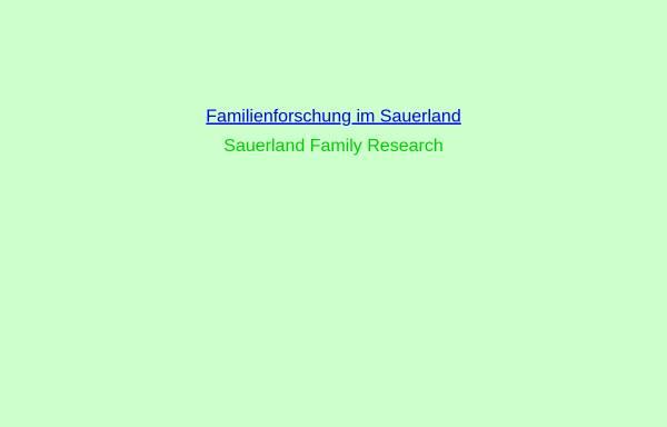 Vorschau von vereine.freepage.de, Familienforschung im Sauerland