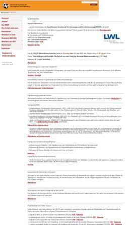 Vorschau der mobilen Webseite www.wggf.de, Westfälische Gesellschaft für Genealogie und Familienforschung
