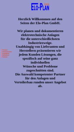 Vorschau der mobilen Webseite www.eloplan-gmbh.de, Elo-Plan GmbH