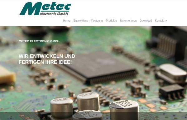 Vorschau von www.metec-ce.de, Metec Hard+Software Entwicklung GmbH