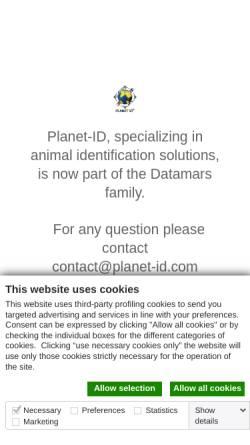 Vorschau der mobilen Webseite www.planet-id.com, Planet ID GmbH