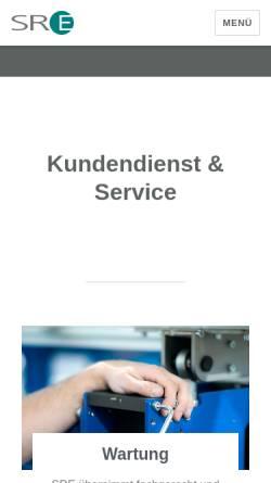 Vorschau der mobilen Webseite www.sre.de, SRE Elektrotechnik GmbH