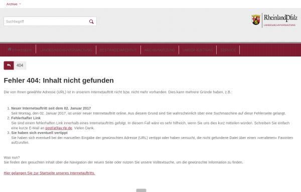 Vorschau von www.landeshauptarchiv.de, Archive - Archivportal für den Südwesten