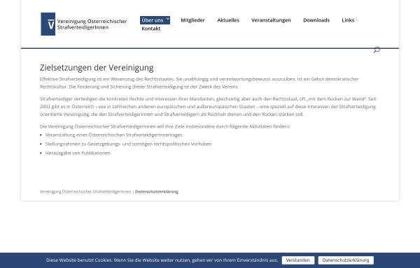 Vorschau von www.strafverteidigung.at, Vereinigung Österreichischer StrafverteidigerInnen