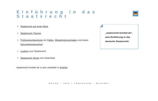 Vorschau von staatsrecht.honikel.de, Staatsrecht for you