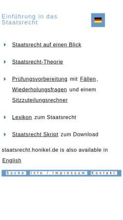 Vorschau der mobilen Webseite staatsrecht.honikel.de, Staatsrecht for you