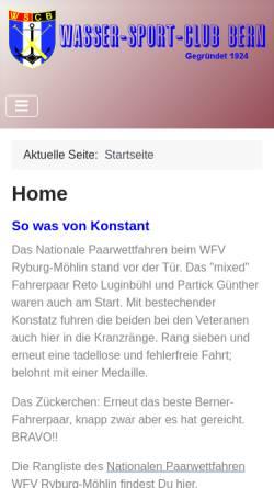Vorschau der mobilen Webseite www.wsc-bern.ch, Wasser Sport Club Bern