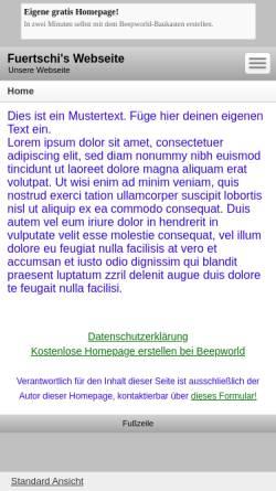 Vorschau der mobilen Webseite fuertschi.beepworld.de, Verkehrsphilosophie