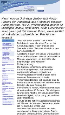 Vorschau der mobilen Webseite www.berlinx.de, Frau am Steuer: Sind Männer die schlechteren Autofahrer?